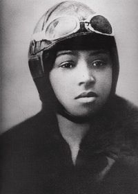 """Elizabeth """"Bessie"""" Coleman (January 26, 1892 - April 30, 1926) was an American civil aviator.  Popularly known as """"Queen Bess,"""" she was the first African-American to become a licensed airplane pilot and to hold an international pilot license."""