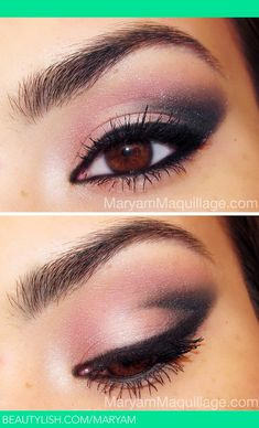 Makeup for brown eyes... havent done my makeup this dark for ages but it could be pretty!
