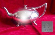 A Gorgeous VINTAGE ART DECO STYLE Spherical SILVER PLATED TEA POT