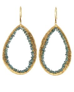Dana Kellin  - Teal Blue Diamond Earrings
