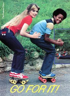 Miss Vintage Pop Culture: Random Rollermania ~ Dana Plato (RIP) and Todd Bridges
