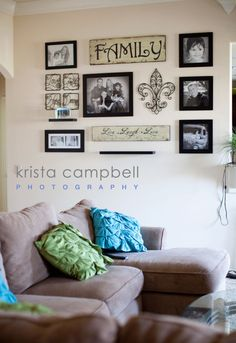 Decorating with Pictures at Krista Campbell Photography