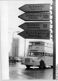 1961 Berlin Alexanderplatz,Omnibus,Wegweiser Berlin Alexanderplatz, Berlin Spandau, S Bahn, Double Decker Bus, London Bus, Berlin Germany, Eastern Europe, Old Photos, Black And White