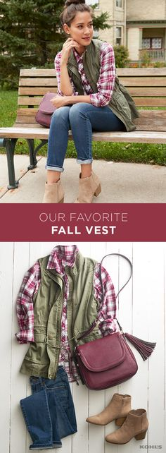 A layering vest is a must-have for fall. And this olive green military-style vest is on the top of our list. The color and length make it versatile enough to pair with a casual plaid shirt and booties or to dress up your favorite floral dress and tights. BRB, getting one right now. Shop the best vest at Kohl's.