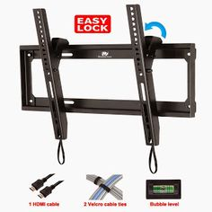 Tilt TV Wall Mount Bracket for most of Inches TVs Tv Wall Mount Bracket, Wall Mounted Tv, Business Projector, 55 Inch Tvs, Tilt, Magazine Rack, Tv On Wall