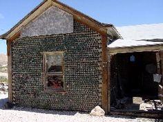 glass bottle house, Rhyolite, Nevada