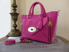 #Mulberry Small Willow Tote in Mulberry Pink Silky Classic Calf > http://www.npnbags.co.uk/naughtipidginsnestshop/prod_3610495-Mulberry-Willow-Small-in-Mulberry-Pink-Silky-Classic-Calf-As-New.html