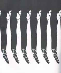 Men and women legs! Love this! M.C. Escher, anyone?