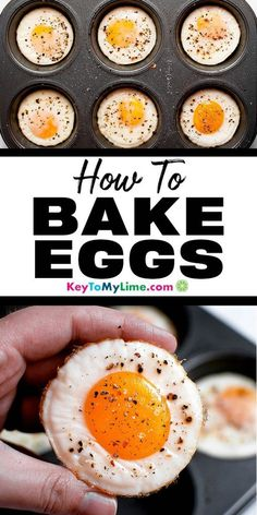 Egg Recipes For Lunch, Vegan Recipes Beginner, Egg Recipes For Breakfast, Healthy Low Carb Recipes, Breakfast Healthy, Vegetarian Recipes, Quick Egg Recipes, Eggs In Muffin Tin, Muffin Tins