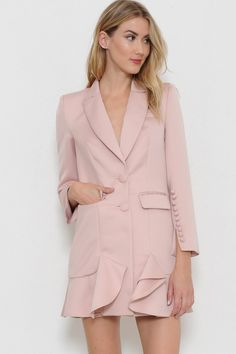 Pink Self Belted Tailored Blazer Blazer Outfits, Blazer Dress, Dress Up, Boy Dress, Blazer Fashion, Blazer Jacket, Casual Outfits, Tuxedo For Men, Gothic Fashion