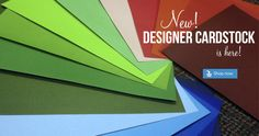 Designer Cardstock now available!