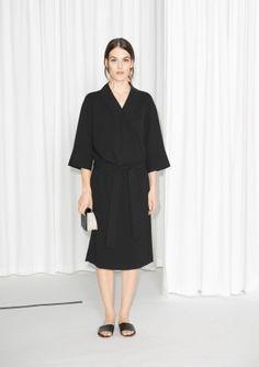 Wrap Kimono Dress - Black - & Other Stories