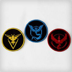 Embroidered Pokemon GO Team Patches