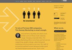 """AGENCY POSITIONING  Positioning, creative concept, copywriting to establish web presence for """"Tim Kenney Marketing"""" Bethesda, MD. Be seen. Be Heard. Be Noticed. Be Remembered. (Web, Direct Mail, B2B slipsheets) Creative Communications, Direct Mail, Copywriting, Public Relations, Positivity, Concept, Marketing"""