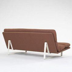 Kho Liang Ie; Enameled Steel Framed Sofa for Artifort, 1960.