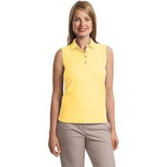 Customizable Silk Touch Ladies #SleevelessShirt  Customizable #Silk Touch Ladies Sleeveless #Shirt is made of 65% polyester and 35% cotton pique material.  http://www.southernad.com/Customizable-Silk-Touch-Ladies-Sleeveless-Shirt-p/l500svls.htm
