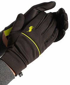 Polo Ralph Lauren Gloves, Classic Sport Tech Touch  Silver Trim Size xs/s