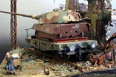 Tiger II on flatcar.