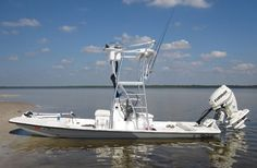 19 foot catamaran shallow fishing boat that is manufactured by Shoalwater Boats, the number one source for shallow draft fishing boats. Sport Fishing Boats, Kayak Fishing, Cat Fishing, Shallow Water Boats, Duck Boat, Jon Boat, Camper Boat, Skinny Water, Bay Boats