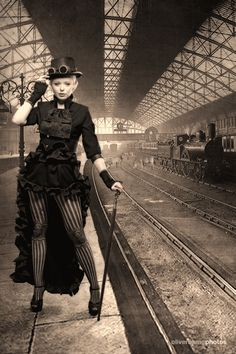 Victorian Steampunk Dandy - at the train station by ~XSteampunkPrincessX #SteamPUNK - ☮k☮