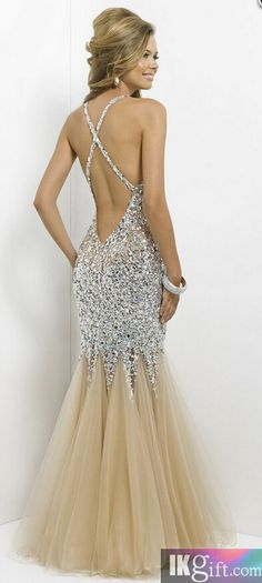 2015 Crystal Mermaid Prom Dress For Teens #promdress #pageant #formaldress