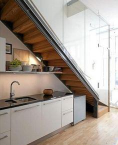 Hermosos Diseños De Cocinas Bajo La Escalera