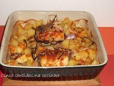 Cinco sentidos na cozinha: Lombos de bacalhau no forno recheados com paio do ...