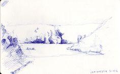 Cala Domestica #Sardinia #sea #drawing #pen #bic