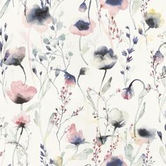 Lo Multi is a water coloured wallpaper in pinks and blues. Welcome to Sandberg Wallpaper. Vintage Flowers Wallpaper, M Wallpaper, Watercolor Wallpaper, Wallpaper Direct, Watercolor Design, Colorful Wallpaper, Flower Wallpaper, Pattern Wallpaper, Floral Watercolor