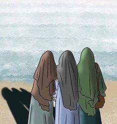 Sükut-u Language Greeting Human - Anime Muslim, Muslim Hijab, Girl Cartoon, Cartoon Art, Muslim Pictures, Hijab Drawing, Islamic Cartoon, Girly M, Islam Women
