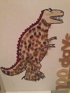 100 days of school project: dinosaur