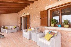 Terrace Lounge Area designed by Knox Design in Villa Campos