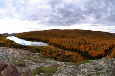 Porcupine Mountains  Upper Peninsula Michigan ~ What a View! #fall #autumn
