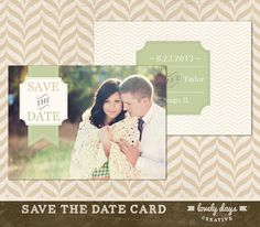 Save the Date Card Template Photography INSTANT DOWNLOAD on Etsy, $8.00