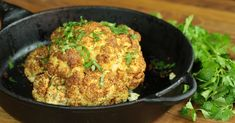 Whole-Roasted Mustard Cauliflower