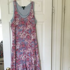 Ralph Lauren Maxi dress. New! Gorgeous! 🎉🎉Sale! Ralph Lauren maxi dress. Has undershirt so you can wear a bra. Flares at bottom. It's long and stunning! Pink paisley pattern. Never worn.  Size M 🎉🎉One day sale! Sunday only! Buy two dresses get 20% off! Ralph Lauren Dresses Maxi