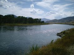 Crazy Mountain Ranch, Montana: During one of the best vacations I've ever taken, I stayed in a cabin about 40 yards away from this river...so peaceful...