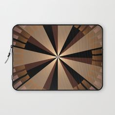 Golden beams, geometric pattern abstract Laptop Sleeve