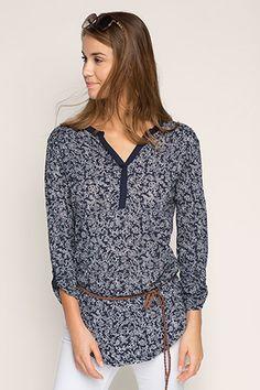 edc - Burnt-out tuniek met gevlochten riem kopen in de online shop