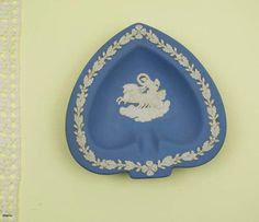 Vintage Pale Blue Wedgwood Jasperware Small Pin dish England. Dated 1950 by Littlemix on Etsy