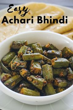 Achari bhindi recipe is simple and quick to make with unique taste. The name of the dish is derived from the word 'achar' means pickle. So this sabzi has a pickle-like flavor. Garlic Seeds, Fennel Seeds, Parmesan Roasted Cauliflower, How To Make Pickles, How To Squeeze Lemons, Okra, The Dish, Palak Paneer, Stir Fry