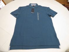 Mens Tommy Hilfiger Polo shirt S sm small solid NEW 7845143 Breaker Blue 471 #TommyHilfiger #polo