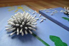 Basteltipp: Pusteblume aus Wattestäbchen – Perlenmama