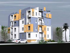 Contemporary Apartment Building Exterior Colors For Indian Houses