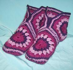 Patrones Crochet: Patron Crochet Zapatillas Granny