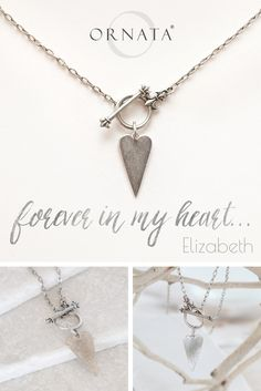 """Forever in My Heart"" Personalized Toggle Heart Necklace"