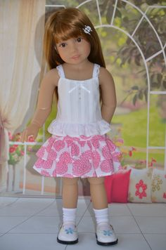 Top and Skirt for Kidz n Cats doll . by Symidollsclothes on Etsy