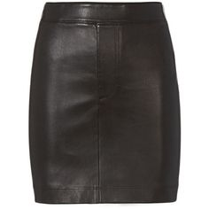 Helmut Lang Women's Black Stretch Leather Skirt (2.010 BRL) ❤ liked on Polyvore featuring skirts, mini skirts, black, genuine leather skirt, pull on skirts, leather mini skirt, stretchy skirts and short mini skirts