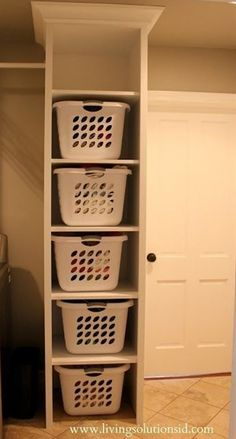 Laundry Room Baskets On Shelves.Wood Top Laundry Room Island With Shelves Transitional . Remodelaholic 25 Ideas For Small Laundry Spaces. Top 50 Best Laundry Room Ideas Modern And Modish Designs. Home and Family Room Makeover, Home Organization, Laundry Mud Room, Room Organization, Home Decor, Laundry Room Makeover, Home Diy, Laundry, Storage