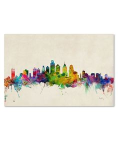 Represent the City of Brotherly Love in your space with this beautiful abstract painting. Giclee prints, noted for their high quality, allow for reproductions that are virtually indistinguishable from